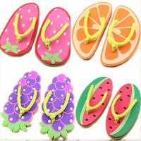 free shipping~New arrival sweet summer flip flops shoes women's sandals cartoon flip flops fruit  beach shoes