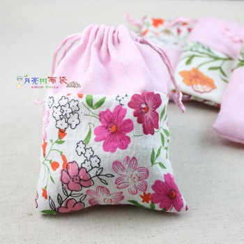 Pink small storage bag accessories bag pure fluid print tote drawstring bags boutique bags