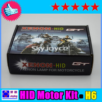 free shipping best price motorcycle lamp hid xenon kit H6 BA20D H4 Hi/Lo bi-xenon 4300k 6000k 8000k 10000k 12000k