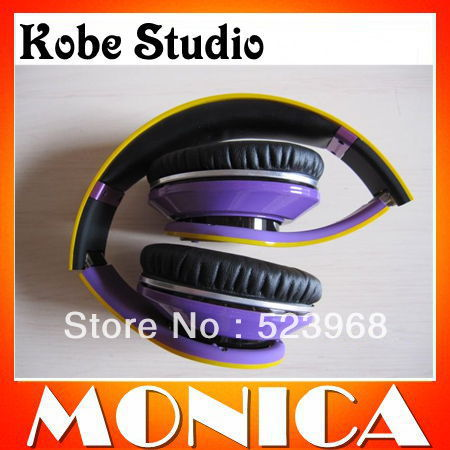 Hongkong Post Air Free Shipping 3pcs/lot Kobe Studio Headphones Headset DJ Stereo No.24 With Control Talk Factory Sealed(China (Mainland))