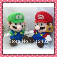 Free shipping Super Mario Luigi 30cm plush doll mix 12pcs/lot Toy wholesale