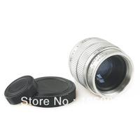 """C mount CCTV 35mm F1.7 Movie Lens 2/3"""" silver for E-P3 E-P2 E-PL3 E-PL2 E-PL1 GF3 GF2 GH2 G3 G2"""