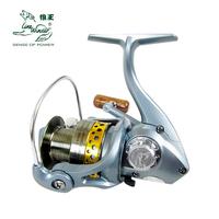 Xy4000 metal wheel spinning fishing gear wheel fish reel 9 1 shaft