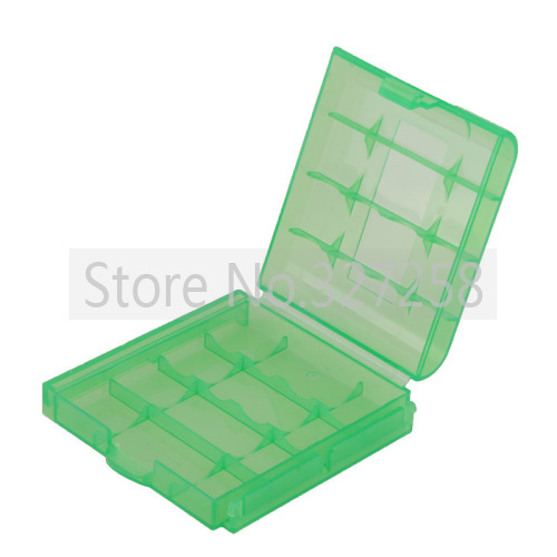 10pcs Blue Plastic Case Holder Storage Box for AA AAA Battery+ free tracking number(China (Mainland))