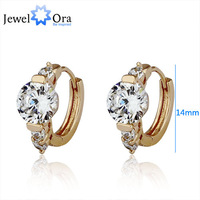 Wholesale charms Women rhinestone crystal hoop earrings 2013 gold jewelry 18KGP Gold Plated CZ Lady c Earrings brand #EA101114