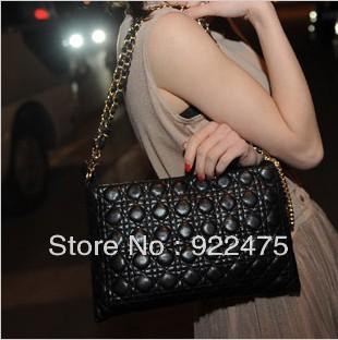 free shipping,2013 new arrival fashion lady pu leather handbag,women plaid shoulder bags,cb353