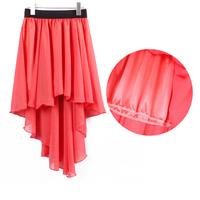 2013 New European  Women Sexy Elegant Asymmetric Chiffon Long Maxi Skirt Chiffon Skirts for the spring and summer