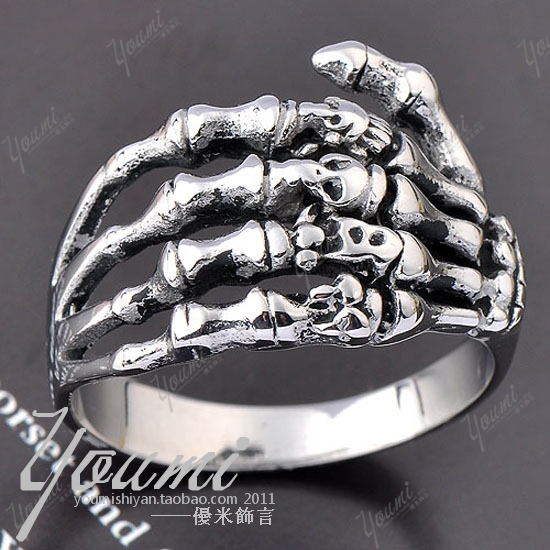 Punk ring male ring 316 stainless steel mixed ring(China (Mainland))