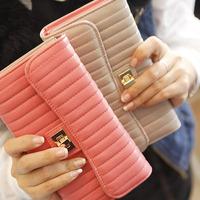 Wallet female lock stitch long design women's wallets fashion wallets