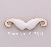 BLACK/WHITE Effendy' Mustache DIY Findings Accessories jewelry fitting Alloy Components Cell Phone Case Ornaments