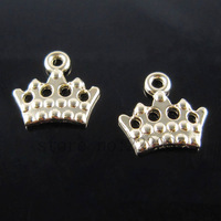 Free shipping 60pcs Jewelry Findings  Rose gold Alloy plane crown pendant charms