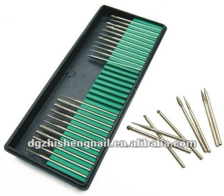 Free Shipping 30pcs Drill bits fit for Manicure Pedicure Nail Dryer Nail Drill Machine (ZS-MO2)(China (Mainland))
