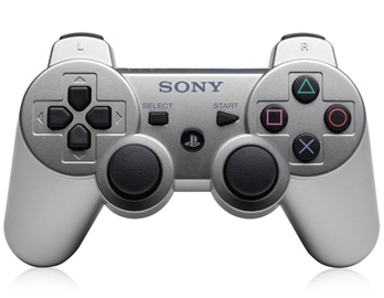 Refurbished Six Axis Dualshock Wireless Controller for PS3 (Satin Silver)(China (Mainland))