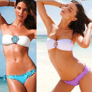 Strappy Bikini Crystal Rhinestone Swimsuit Swimwear Bikinis Sexy For Free Shipping W5019