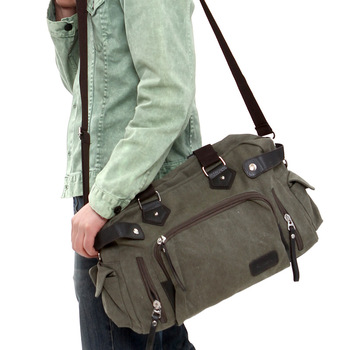2013 Man canvas messenger shoulder bag cross-body casual travel bag backpack free shipping