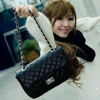2012 autumn plaid 2.55 chain bag small bag women's messenger bag vintage one shoulder women's handbag red bag  free shipping !