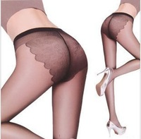 Free Shipping Woman's Sexy Butterfly Crotch Pantyhose Summer Pantieshose For Ladies Free Size  Tights Socks  PT-003