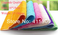 18*16cm 17-18g ANTI-GREASY dish cloth,bamboo fiber washing dish cloth,magic multi-function wipping rag