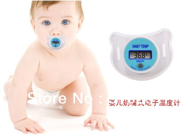 Free shipping LCD Digital Thermometer as Baby nipple thermometer Pacifier electronic thermometer as Mommy and Baby Porducts.(China (Mainland))