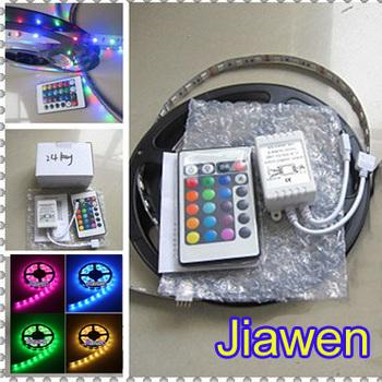 Superbright 5M Flexible RGB LED Light Strip  5050 SMD 500cm 300 LEDs 60leds/Meter Waterproof + 44 Key IR remote Controller