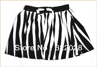 Wholesale Price!Free shipping 2013 spring new Korean short skirts Mini Striped skirt short Ball Gown skirts dropshipping