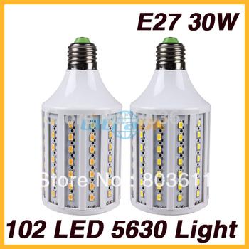 AC 220V-240V E27 30W 102 LED 5630 SMD Cool White LED Corn Light Ceiling Lamp