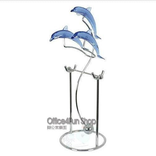 Ishiguro metal swing doll dolphin Large furnishings swing home office desk decoration(China (Mainland))