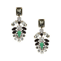 Popular earring jewelry fashion luxury vintage sparkling created stone banquet women's ear stud free shipping