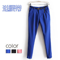 Fast/free shipping 2013 new arrival korean Women clothing OL casual harem pants ladies slim pencil trousers A858