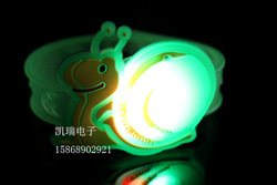 free shippin snail flash wrist glow bracelets led(China (Mainland))