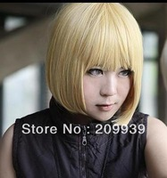 dj 0014 Death Note Mello Need Cut for us Cosplay Wig 30cm gold costome coser hair