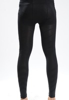 1pcs/lot  MEN'S BLACK ELASTIC THIN SHAPING SLIMMING LONG PANTS COMPRESSION UNDERWEAR TIGHT