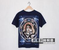 brand new men women giv cotton short sleeve t-shirt shirts tops print tops tank blouse tees blue white