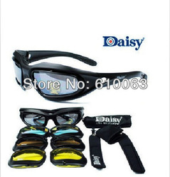Daisy C5 Desert Storm Sun Glasses Goggles / Tactical Protective Riding Glasses free shipping(China (Mainland))