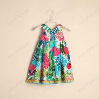 D042207*New* Girls With Printed Flounce Dress Baby Girl  Dress 7 Pcs/Lot
