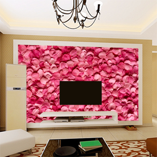 Yaju mural wall painting sofa tv background wallpaper rose j100(China (Mainland))