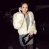 Winter women's fur coat luxury fashion all-match jacquard fur coat