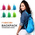 New arrival folding nylon travel backpack portable storage bag ultra-thin(China (Mainland))