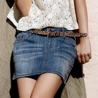 2013 spring and summer denim skirt short skirt female slim hip short skirt miniskirt bust skirt