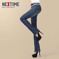 2013 spring and autumn jeans flare trousers women's classic boot cut in high ol pants waist
