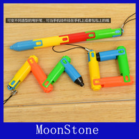 Free Shipping Variety collapsible ball-point pen mobile phone pendant pen bent pen student prize stationery cj