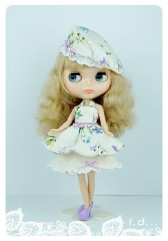 Blythe blythe doll clothes 178 flowers skirt set