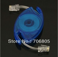 3m 8pin Retractable RJ45 M-M Cat5 Ethernet Network Cable Free shipping/Drop shipping