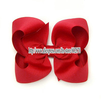 "Free shipping 80pcs  4''-4.5"" Emerald Twisted Boutique Bow mix 19 colors Big girl hair bow  NO MOQ for each color"