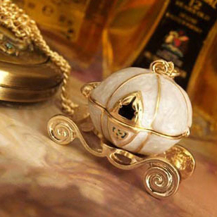 Min.order is $10 (mix order)Free Shipping Cinderella's Magic Pumpkin Car Retro Necklace  XL2015