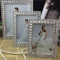 Free shipping Newness photo frame Luxurious assembly/Zinc alloy, High definition Glass, Rhinestone, Star stone(China (Mainland))