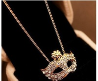 Hot &The fox mask set auger stone necklace+ Free Shipping