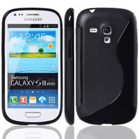 For Samsung Galaxy S3 Mini i8190 S Line TPU Gel Skin Case Cover Free Shipping by DHL or EMS