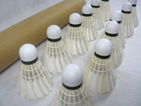 Cheap EMS cost promotion!!!hot sale Class D duck feather badminton Shuttlecock PU head 12pcs/dozen 50dozens/lot