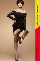 2013 Sexy strapless lace lotus leaf dress for woman sexy teddy ladies' dress